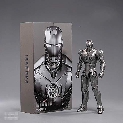 yqs Actionfiguren 18cm Endspiel Iron Man Mark 2 Actionfigur Iron Man Ii Iron Man PVC Bewegliche Gelenkkollektion Spielzeuggeschenk