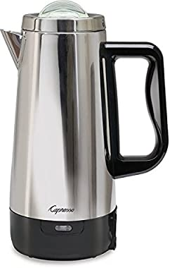 Capresso 12 Cup Perk Coffee Maker, Stainless Steel