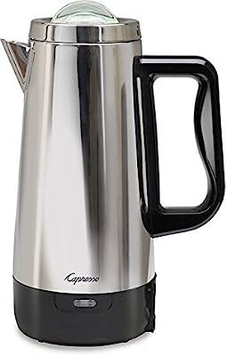 Capresso 12 Cup Perk Coffee Maker, Stainless Steel