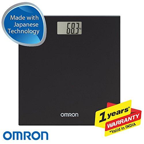 OMRON HN289 - Báscula de baño digital, 5 Kg a 150 Kg, pilas incluidas, color negro