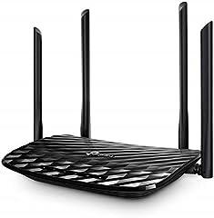 TP-Link Archer C6 Dual band Gigabit Wi-Fi Router (867 Mbps 5GHz + 300 Mbps 2,4 GHz, 4 Gigabit LAN-poort, Mu-MIMO, IPTV, VPN, 4 externe antennes) zwart*