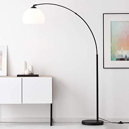 Lightbox Lámpara de arco – hasta 166 cm de altura regulable, diámetro de 30 cm, interruptor de pie, casquillo E27 para máx. 60 W – metal/plástico