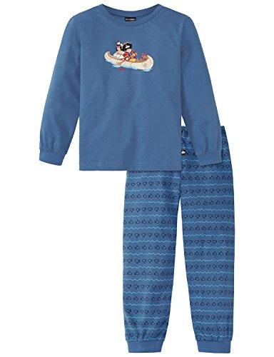 Schiesser Jungen Capt´n Sharky Knaben lang Zweiteiliger Schlafanzug, Blau (Blau 800), 98
