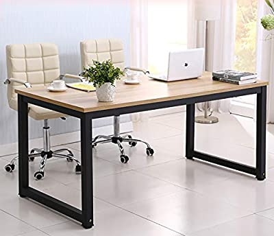 hmercy Home Office Desk, 47-Inch Computer Desk with Modern Simple Design, Simple Writing Study Table, Industrial Style Wood Top and Black Metal Frame for Soho