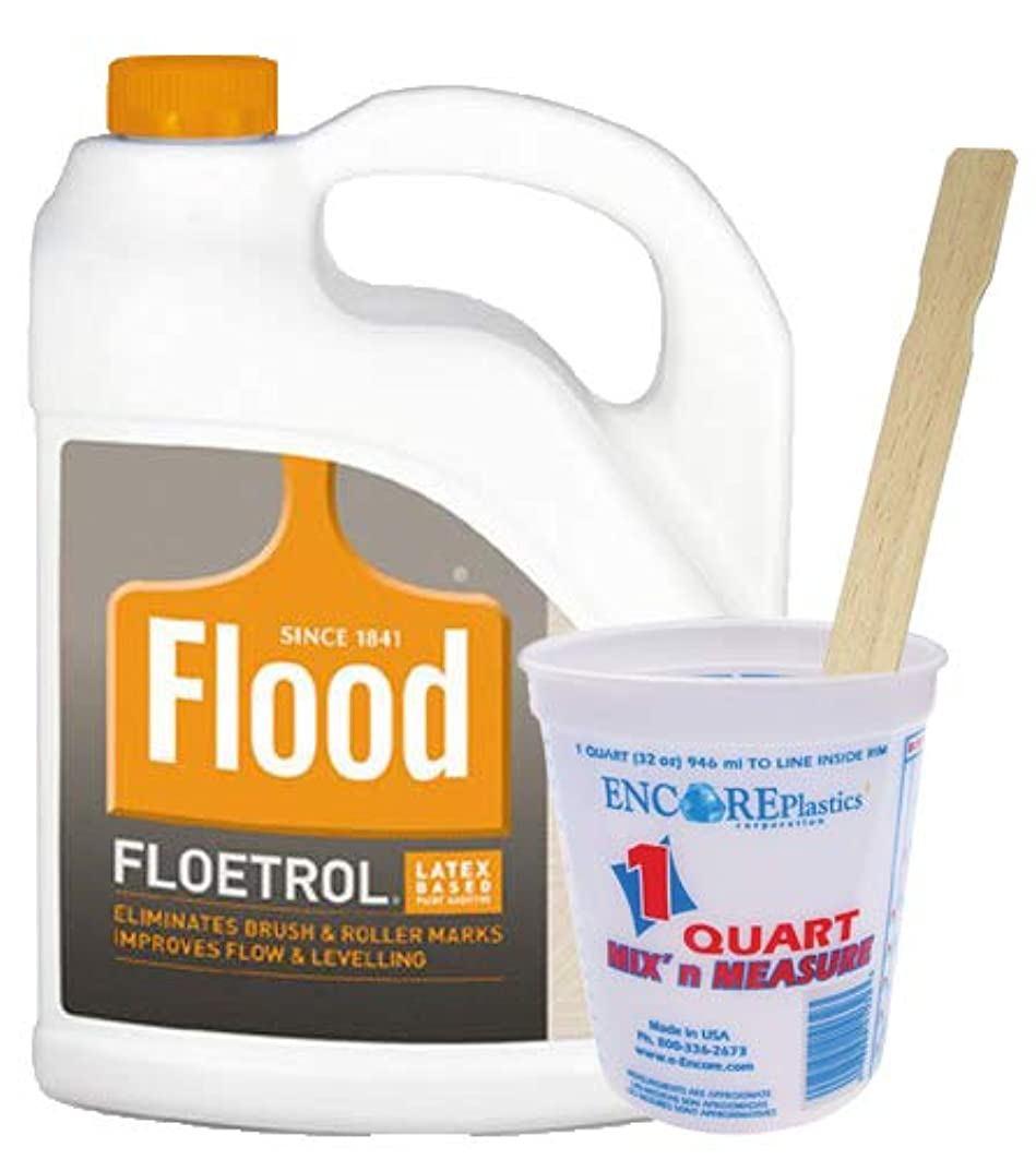 Flood FLD6 Paint Conditioner, 1 Qt Mix-N-Measure Disposable Paint Container, 20 x 14-inch Wood Mixing Sticks