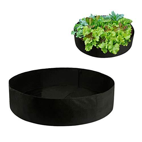 DOITOOL Extra grote stof verhoogde plantbed, ronde verhoogde plantenbak kweken zak tuin bedzak voor kruid bloem groente planten XL (100 gallon)