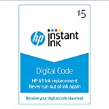 HP 63 Instant Ink | $5 Prepaid Code for HP Ink Delivery Service