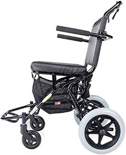 Busirsiz Silla de ruedas plegable ligero portátil pequeño anciano viaje ultraligero scooter conducción aviones médicos tren