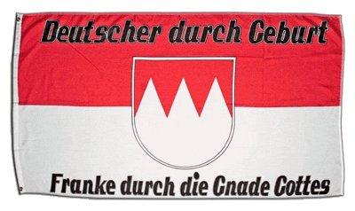 Fahne / Flagge Deutschland Franke durch die Gnade Gottes + gratis Sticker, Flaggenfritze®