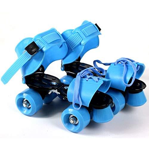 BDTOT Azul, Rosa, Naranja, Verde Patines de Ruedas Patin Roller, tamaño Ajustable para niños, Zapatos de Patinaje sobre Ruedas geniales para niños y niñas, se Adapta a la Talla