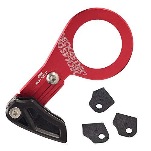 QDY-BB Guía de Cadena Mountain Bike Aleación de Aluminio MTB Bash Guard Protector de Cadena de Bicicleta,Rojo