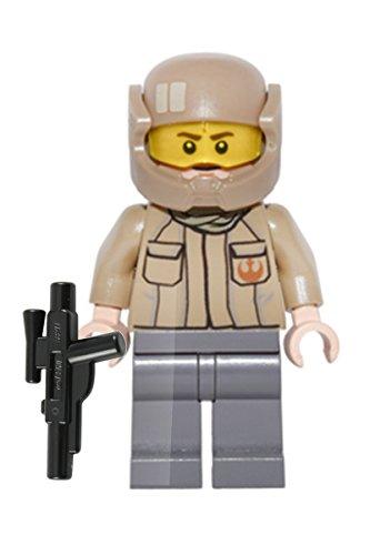 Star Wars LEGO Minifigur Resistance Trooper mit Logo und Blaster aus dem Set 75140