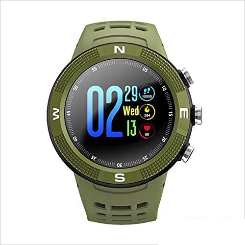 KKZ F18 Smart Watch Outdoor GPS Touch Bluetooth Pulsera Larga Standby Compass Pantalla 3D Pulsera Pulsera Deportes Monitor De Ritmo Cardíaco,B