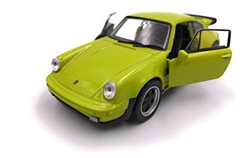 Welly Porsche 911 Turbo 930 1975 Modellauto Auto Lizenzprodukt 1:34-1:39 grün