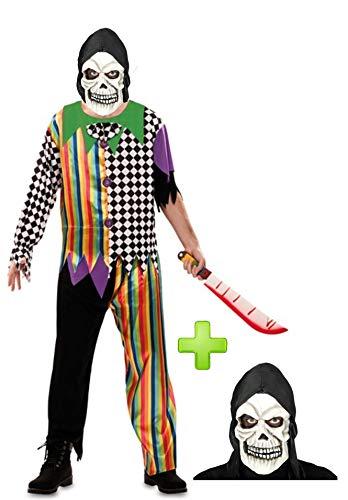 Disfraces Halloween Disfraz de Payaso asesino Calavera