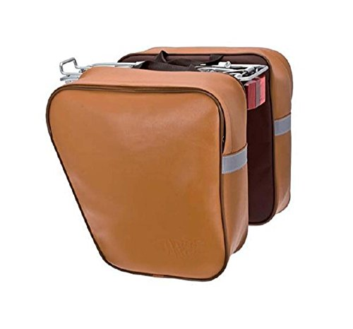 Fahrradtasche, Doppeltasche, Hellbraun, Honey Eco Leder, wasserdicht, 3873Hon