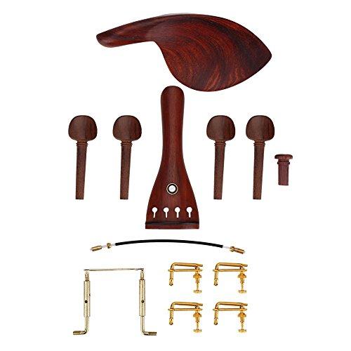 1 juego 4/4 Kit de accesorios de violín de palisandro con
