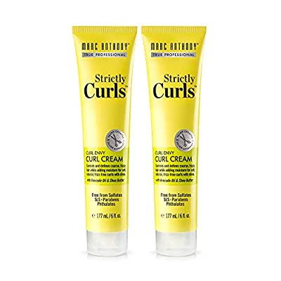 Marc Anthony Strictly Curls Curl Defining & Enhancing Curl Cream– Shea Butter, Vitamin E & Avocado Oil Curl Cream– Sulfate Free, Anti Frizz Curly Hair Styling Product For Wavy, Dry Damaged, Curly Hair