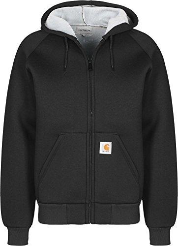 Carhartt Car-Lux Hooded, Felpa Uomo, Nero (Black/Grey 89.93), L (Taglia produttore:32)