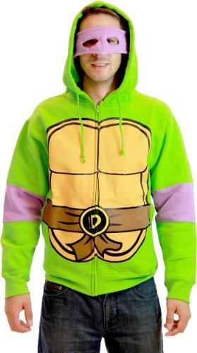 Teenage Mutant Ninja Turtles Donatello Costume Adult Hooded Sweatshirt (Adult X-Small)