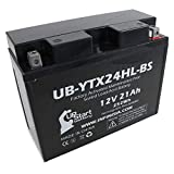 UB-YTX24HL-BS Battery Replacement for 2008 BRP (CAN-AM) Spyder (RS) 998 CC Motorcycle - Factory Activated, Maintenance Free, Motorcycle Battery - 12V, 21AH, UpStart Battery Brand