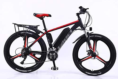 ZHONGXIN Bicicleta Bicicleta de montaña Bicicleta eléctrica, Bicicleta Urbana de 26 '' Ligera, Freno de Disco, Cambio de 27 velocidades