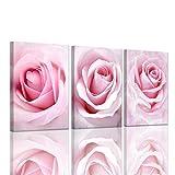 Girls Bedroom Decor Light Pink Rose Wall Art Room...