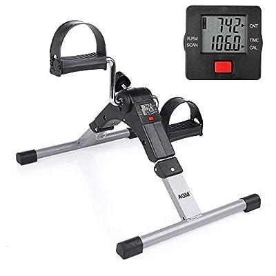 Folding Exercise Bike Mini Pedal Exerciser Arm and Leg Exercise Peddler Machine