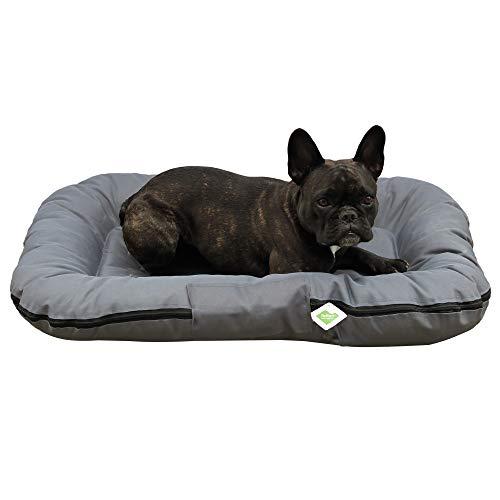 Top-Multi Hundebett - Hundematratze für kleine Hunde Farbe Dunkelgrau 60cm x 90cm