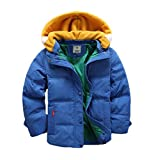 Valentina Kids Winter Latest Thicken Hooded Jacket Warm Quilted Coat Casual Outdoor Cool Cute for Boys Girls Autumn Spring Blue