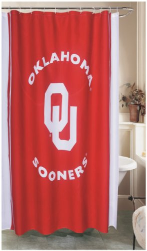 Championship Home Accessories NCAA Shower Curtain NCAA Team: Oklahoma
