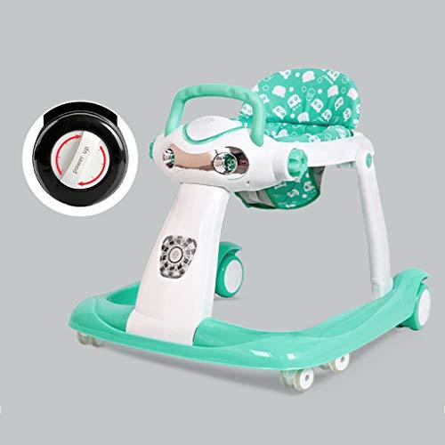 LFY Andador para bebés: posición sentada o Caminando detrás, Altura Ajustable del cojín del Asiento Andador para bebés