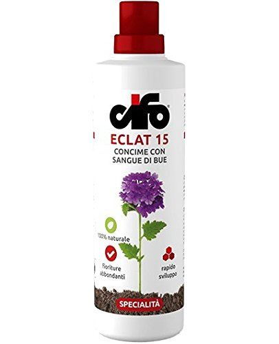 Cifo Eclat 15 1000ml, concime con sangue di bue, 100% naturale, fioriture abbondanti, rapido sviluppo