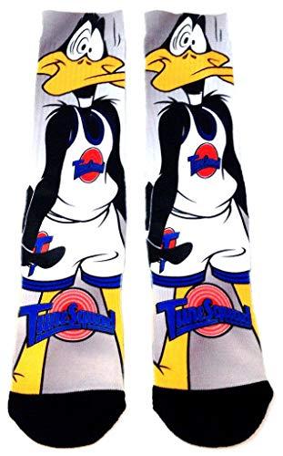 Looney Tunes Space Jam Tune Squad Daffy Duck Sublimated Crew Socks