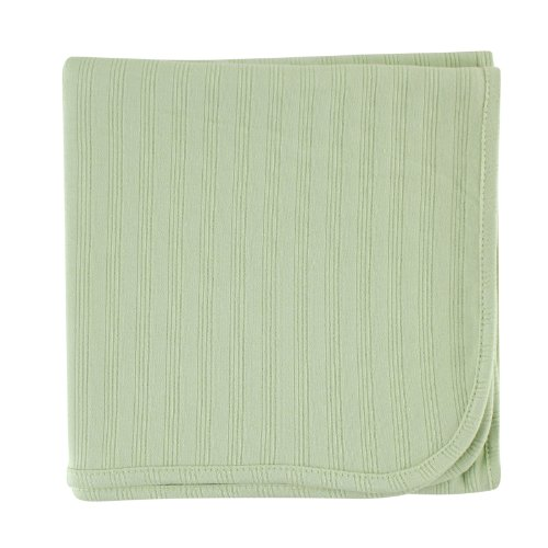 Touched by Nature Unisex Baby Organic Cotton Swaddle, Receiving and Multi-purpose Blanket, Celery, One Size
