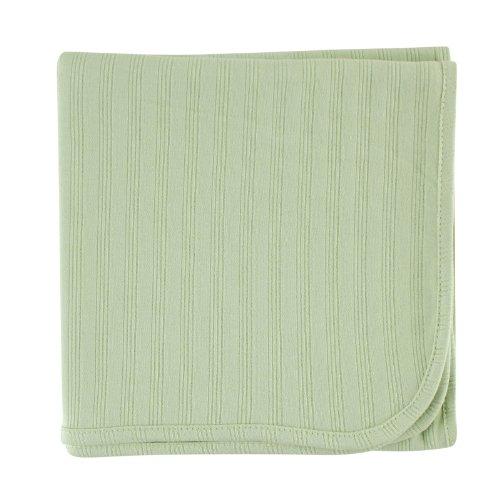 Hudson Baby Organic Cotton Receiving Blanket, Celery, 40x40 by Hudson Baby