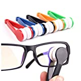 Artemiz - Pack 5 Pcs Mini Tool Eyeglass Cleaner, Microfiber Soft Brush for Cleaning Glasses and Spectacle (Random Color)