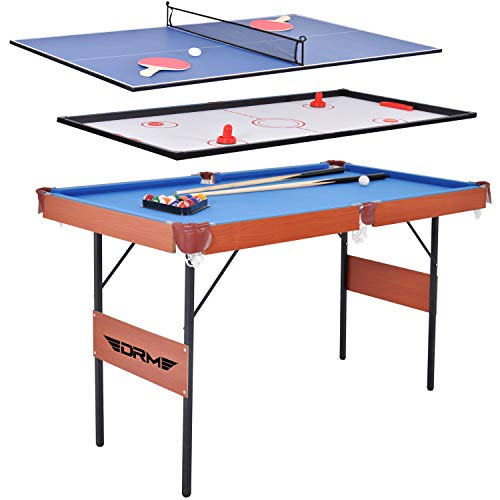 ALPIKA 55Inch 3 in 1 Combo Game Table, Folding Pool Table/Billiard Table, Hockey Table, Table Tennis Table with All Accessories