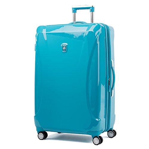 Atlantic Luggage Atlantic Ultra Lite Hardsides 28' Spinner Suitcase, turquoise blue, Checked Large