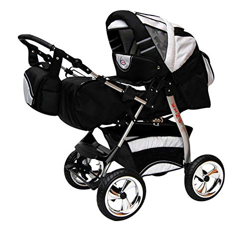 Poussette Combinée Trio landau 2en1 3en1 Isofix siège Auto KingCar by SaintBaby noir cosmique & neige 2en1 sans siège bébé