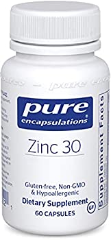 Pure Encapsulations Zinc 30 mg | Zinc Picolinate Supplement for Immune System Support Growth and Development Wound Healing Prostate and Reproductive Health* | 60 Capsules