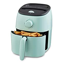 Image of Dash DCAF200GBAQ02 Tasti Crisp Electric Air Fryer + Oven Cooker with Temperature Control, Non Stick Fry Basket, Recipe Guide + Auto Shut Off Feature, 2.6Qt, Aqua: Bestviewsreviews