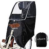 Luckypanda 自転車 レインカバー 自転車 こども乗せ 後ろ レインカバー チャイルドシートレインカバー 撥水加工 雨除け 寒さ対策 風防 収納バッグ付