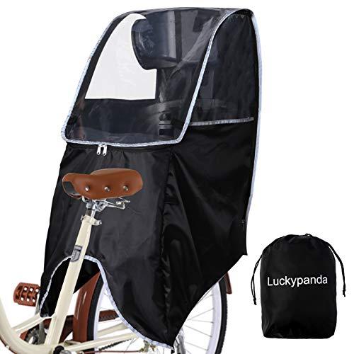 Luckypanda自転車レインカバー自転車こども乗せ後ろレインカバーチャイルドシートレインカバー撥水加工雨除け寒さ対策風防収納バッグ付