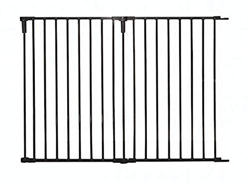 Regalo 36-Inch Wide 2 Panel Extension Kit for Home Decor Super Wide Adjustable Gate Extension Kit, Black