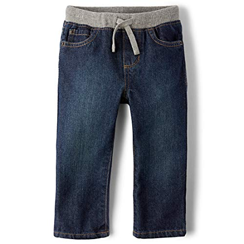 THE CHILDREN'S PLACE Baby Boys' Pull-On Jean, Liberty Blue, 6-9 Months