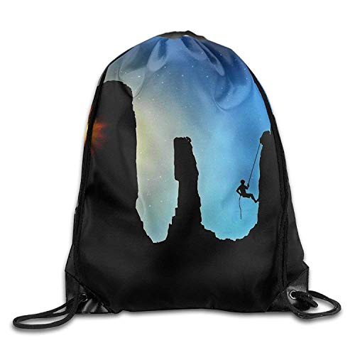Lawenp Climbing Personalized Gym Drawstring Bags Travel Backpack Tote School Rucksack