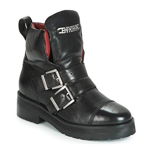 BRONX GAMLETT Enkellaarzen/Low boots dames Zwart Laarzen