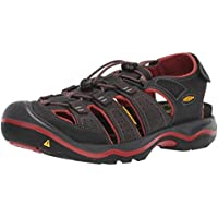 Keen Men's Rialto II H2 Sandals (Black/Brick Red)