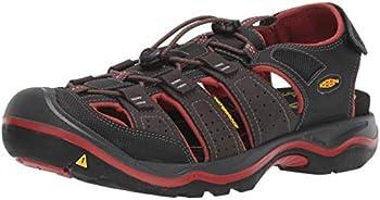 Keen Men's Rialto II H2 Sandals (Black/Brick Red)